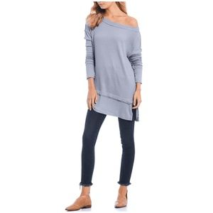 NWT Free People Tunic Top Small North Shore Gray